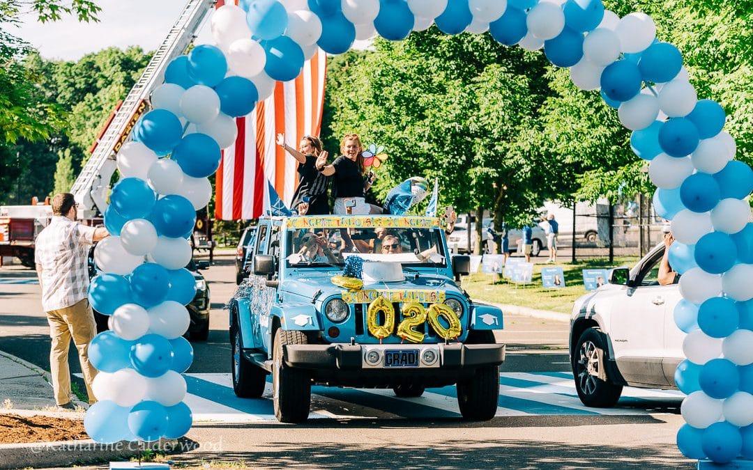 Darien High School Car Parade 2020